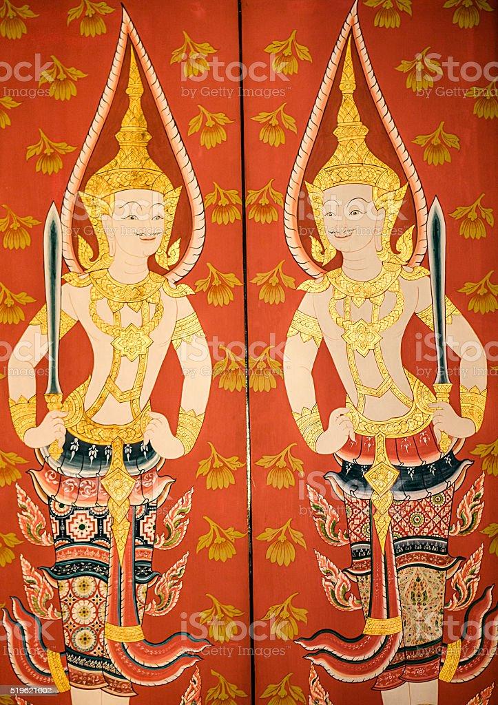 Wat Mahathat temple Bangkok Thailand stock photo