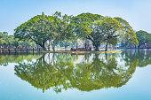 Wat Mahathat temple gardens, Sukhothai, Thailand