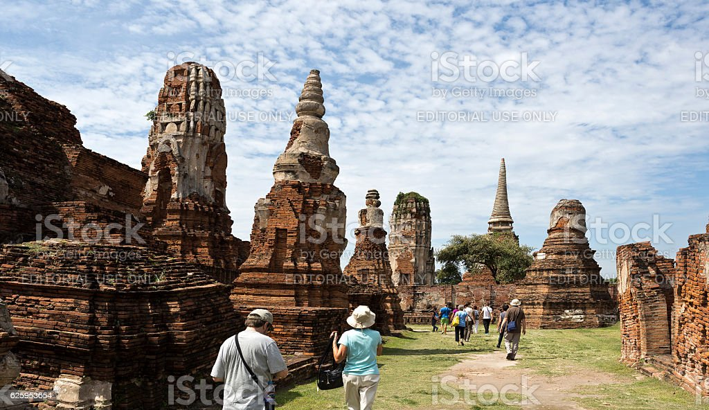 Wat Mahathat Temple I stock photo