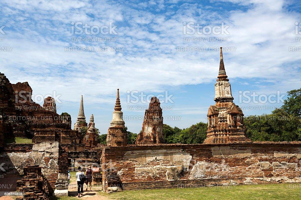 Wat Mahathat Temple stock photo