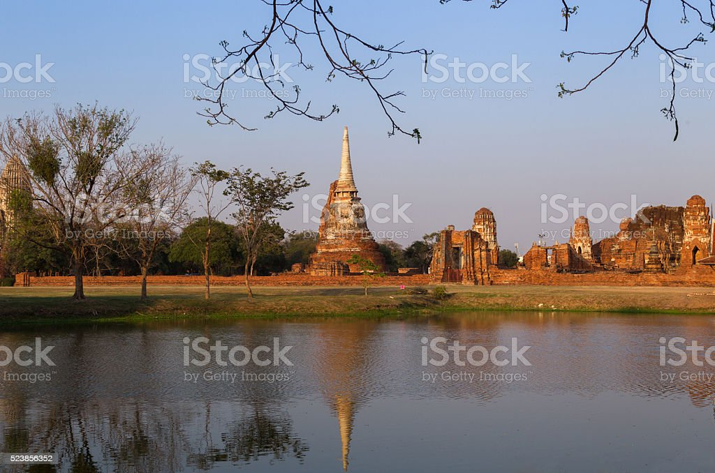 Wat Mahathat Temple, Thailand stock photo