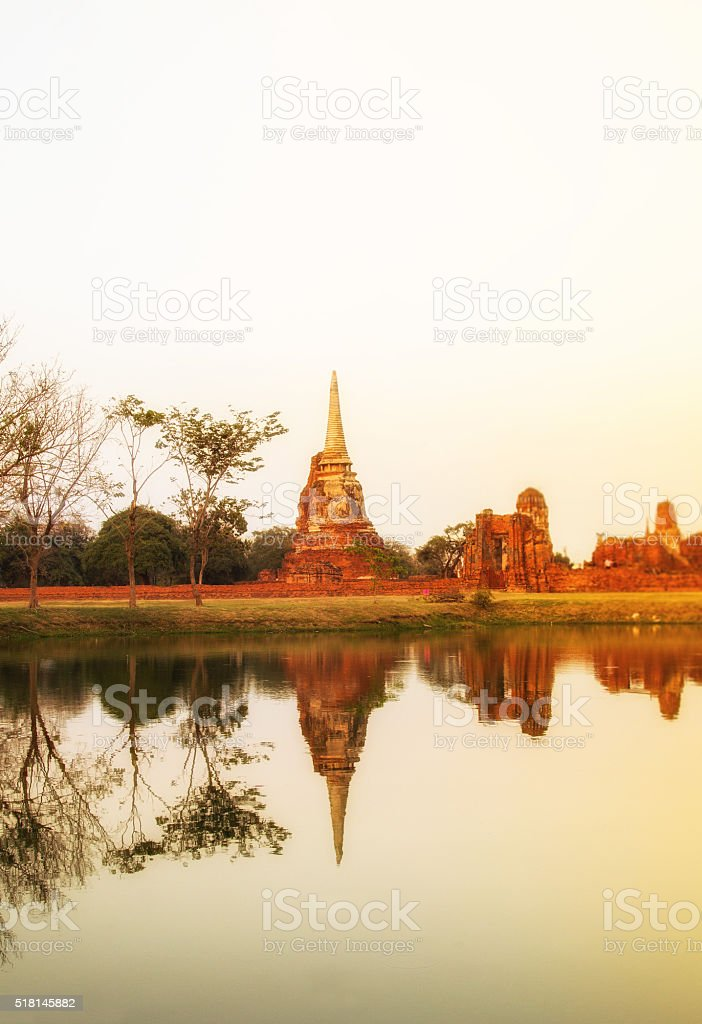 Wat Mahathat,Ayutthaya-Thailand stock photo