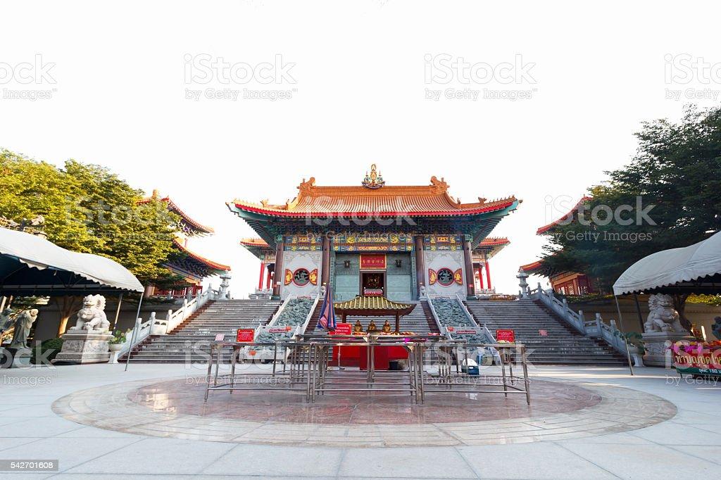 Wat Mangkon Kamalawat stock photo