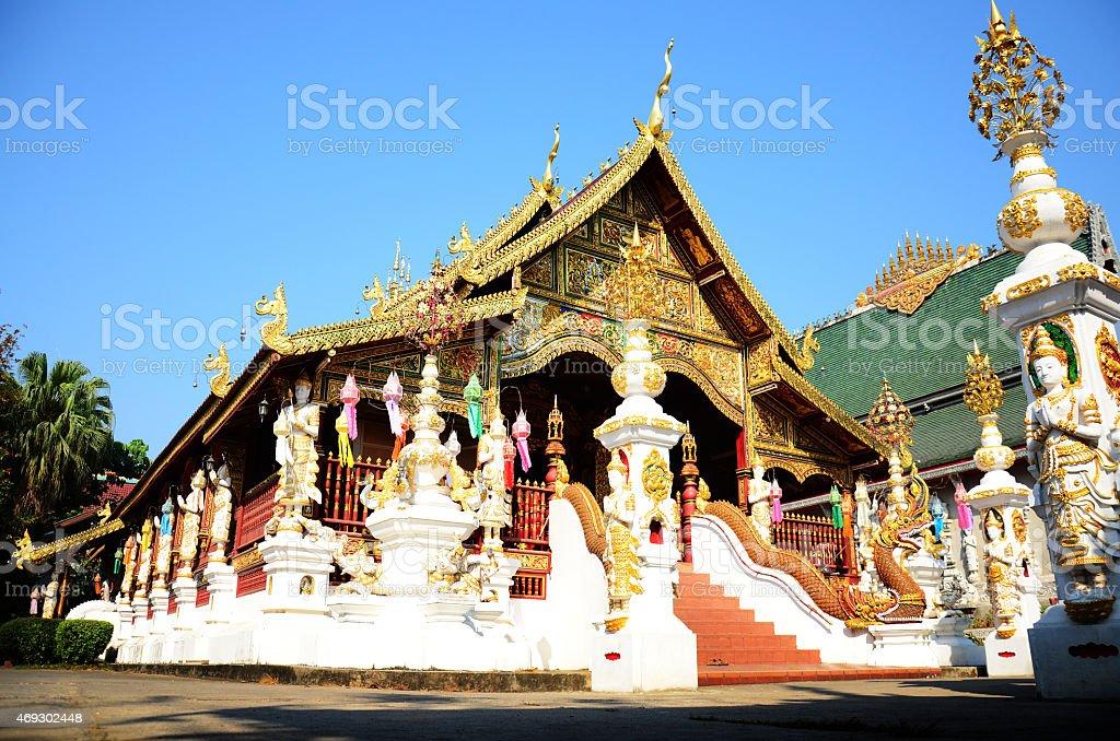 Wat Ming Mueang at Chiang Rai, Thailand stock photo