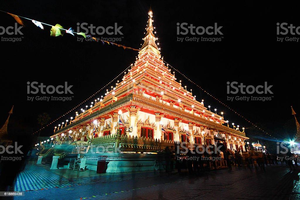 Wat Nong Waeng,the Royal temple, Khon Kaen, Thailand stock photo