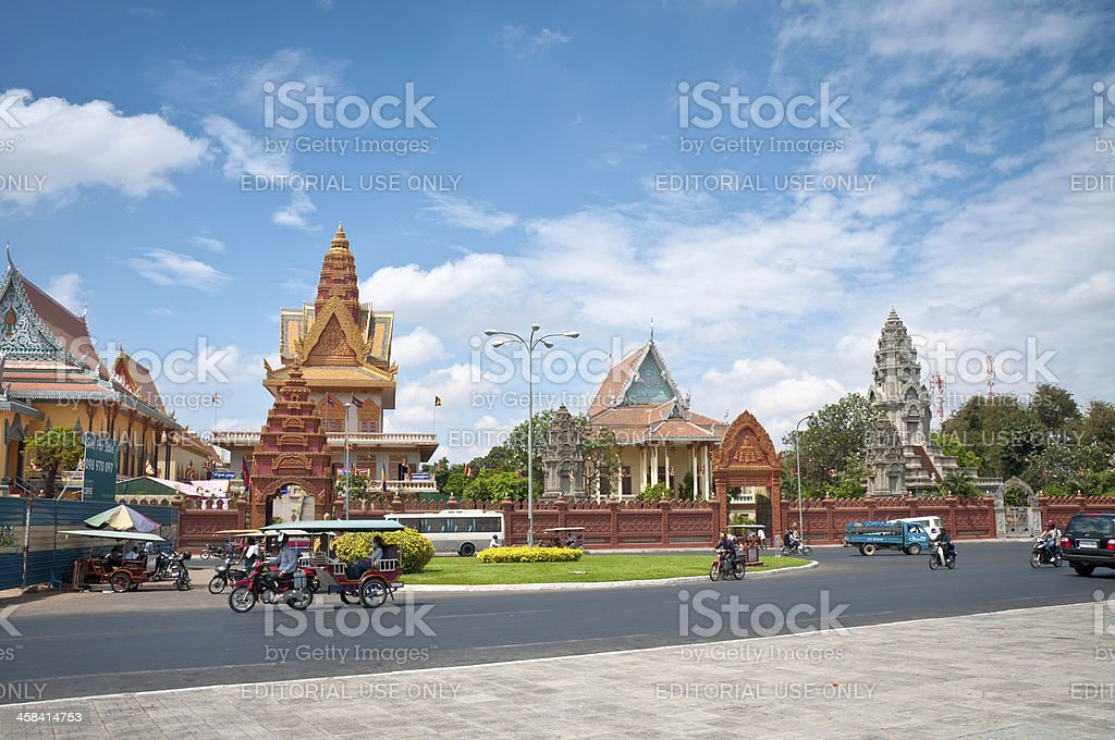 Wat Ounalom In Phnom Penh, Cambodia stock photo