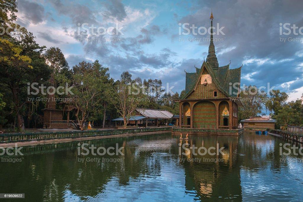 Wat Pa Maha Chedi Kaew Han District stock photo