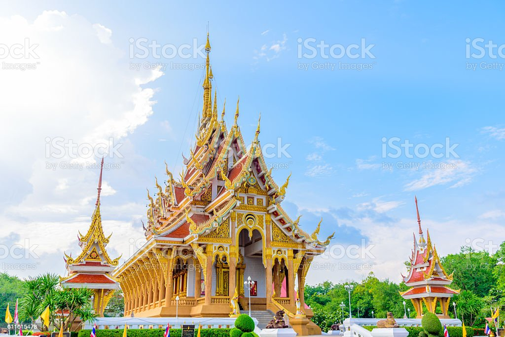 Wat Pa Saeng Arun temple. stock photo
