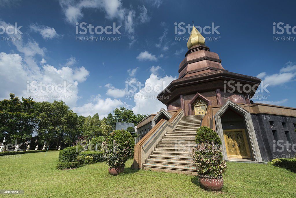 wat pailom temple of Thailand royalty-free stock photo