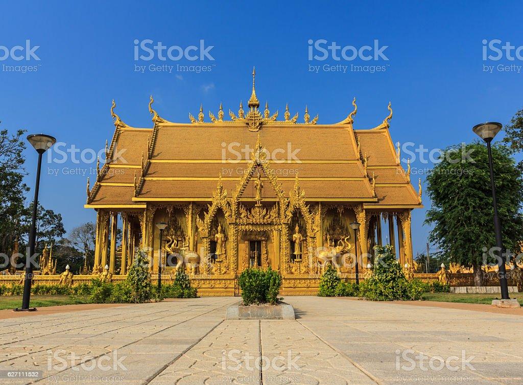 Wat Paknam Jolo landmark Buddhist stock photo