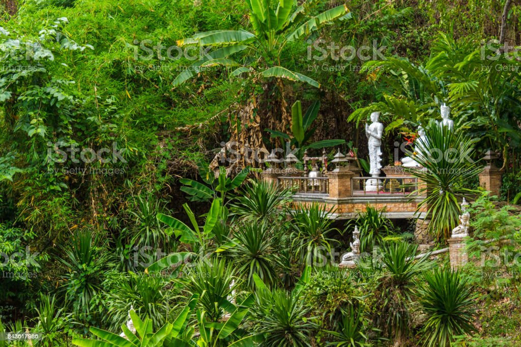 Wat Pha Lat jungle temple in Chiang Mai, Thailand stock photo