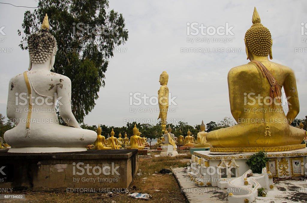 Wat Phai Rong Wua in Suphan Buri, Thailand stock photo