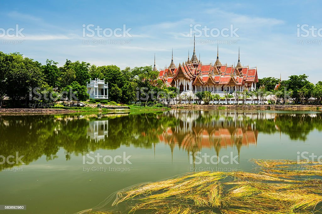 Wat Phai Rong Wua, Suphanburi stock photo