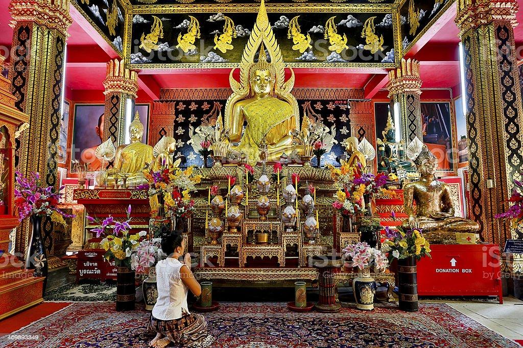 Wat Phan On Chiang Mai royalty-free stock photo