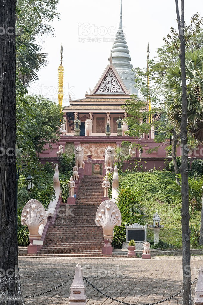 Wat Phnom In The  Cambodian Capital royalty-free stock photo