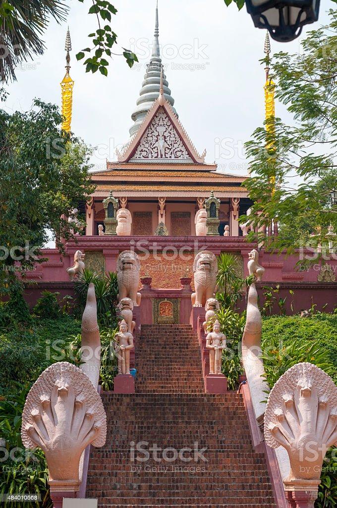 Wat Phnom In The  Cambodian Capital stock photo
