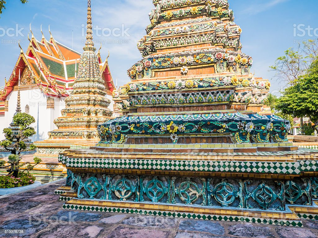 Wat Pho Bangkok Thailand stock photo