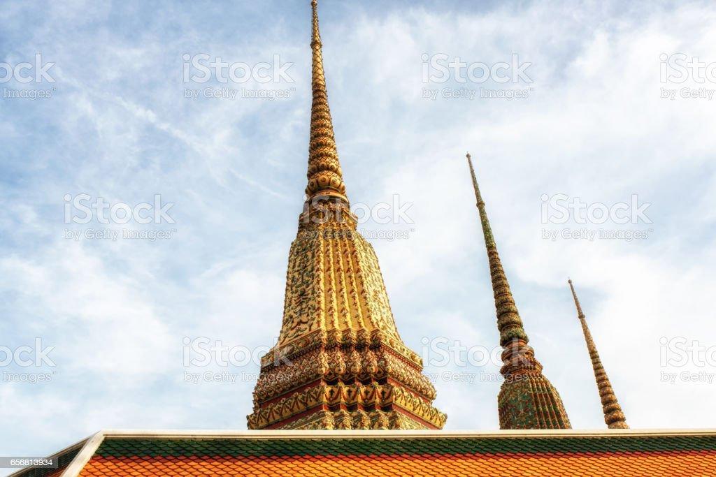 Wat Pho Chedis stock photo
