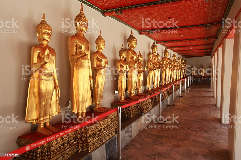 Wat Pho in Bangkok, Thailand. stock photo