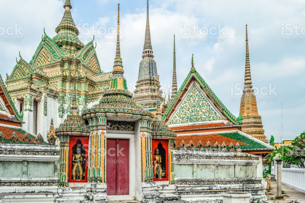 Wat Pho in Bangkok, Thailand stock photo