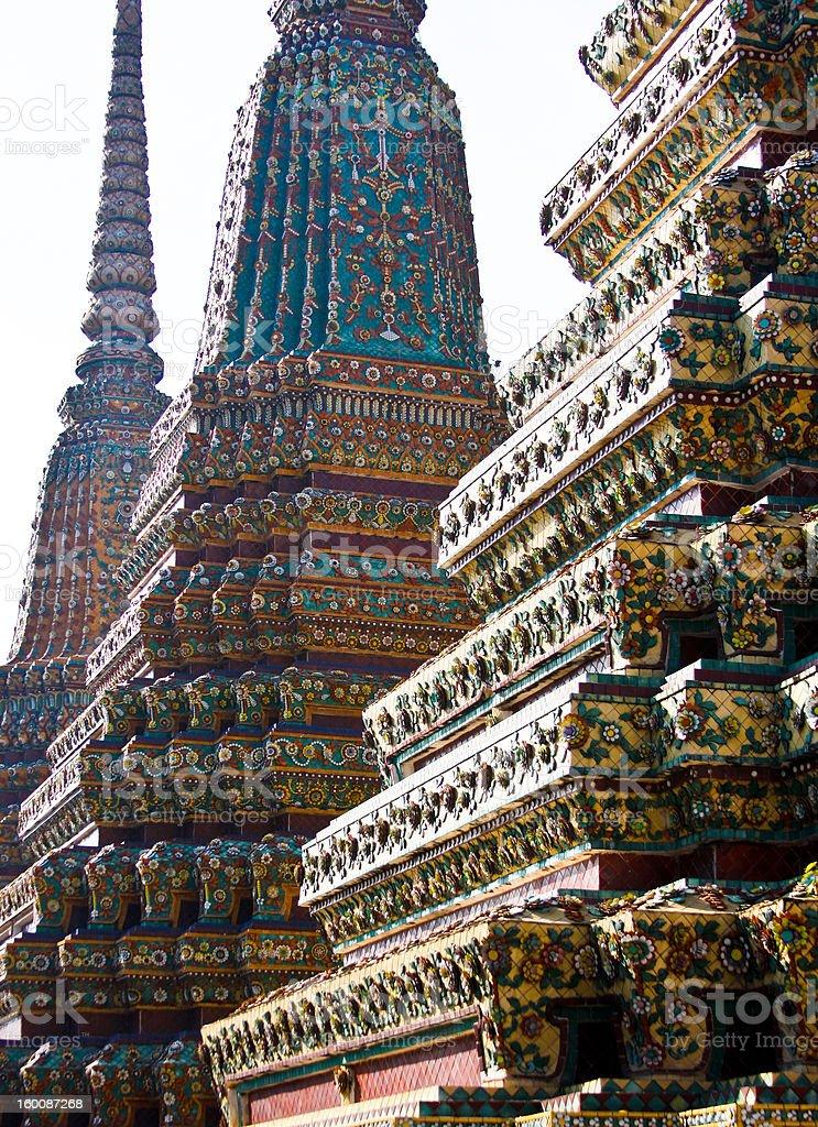 Wat Pho Stupa royalty-free stock photo