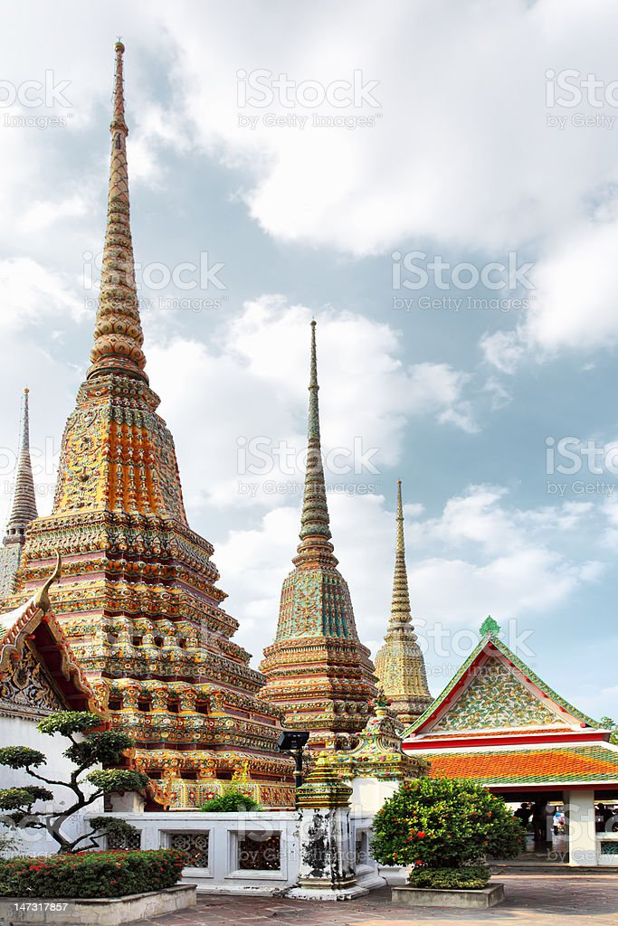 Wat Pho temple. Bangkok stock photo