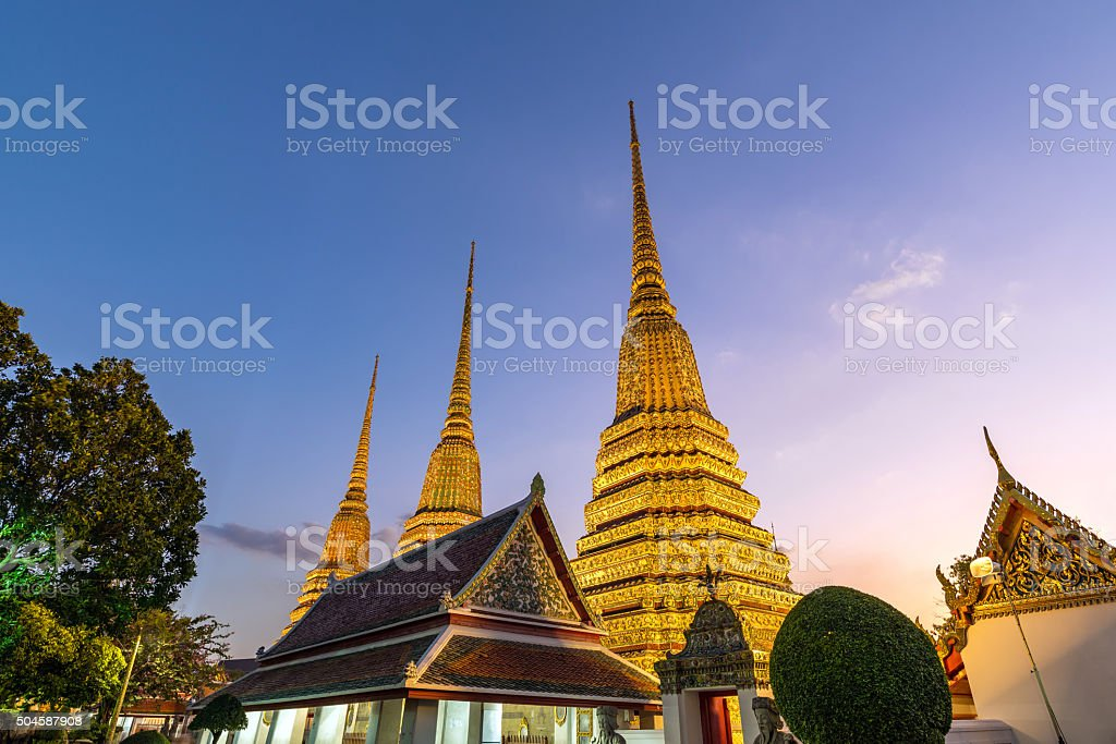 Wat Pho Temple - Bangkok - Thailand stock photo