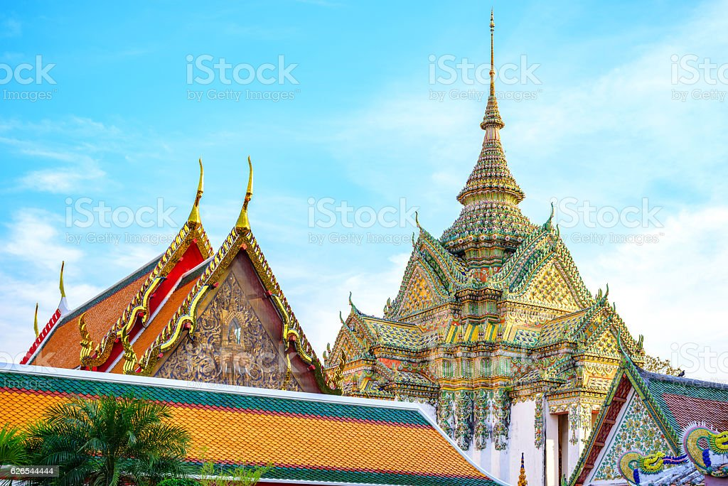 Wat Pho Temple, Bangkok, Thailand stock photo