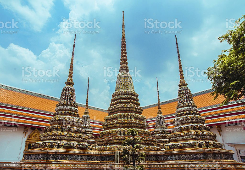 Wat Pho, Temple of the Reclining Buddha ,Bangkok,Thailand royalty-free stock photo
