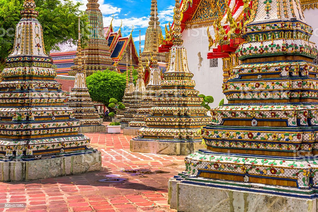 Wat Pho Temple stock photo