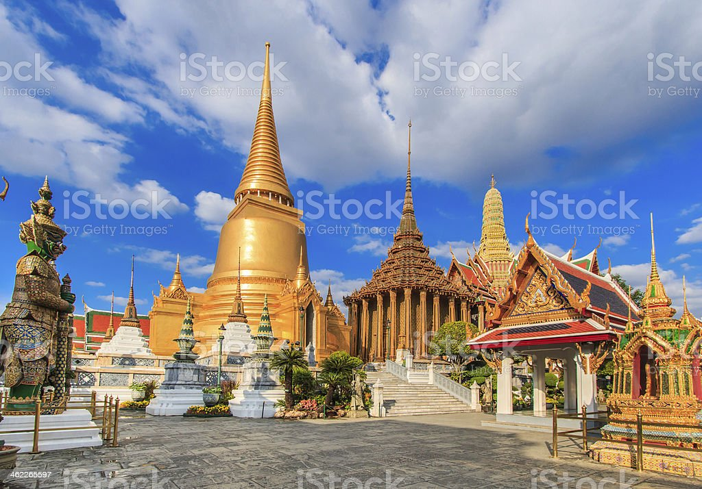 Wat Phra Kaeo, Temple  Bangkok, Asia Thailand stock photo