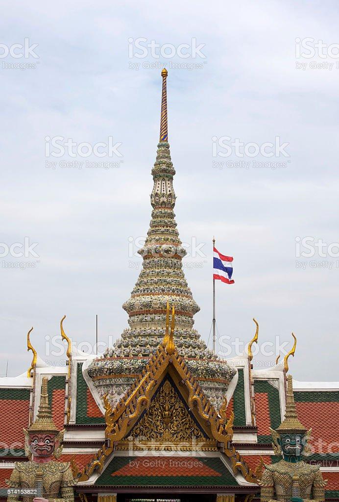 Wat Phra Kaeo, Temple Bangkok, Asia Thailand stock photo