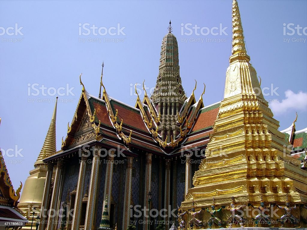 Wat Phra Kaeo temple, Bangkok royalty-free stock photo