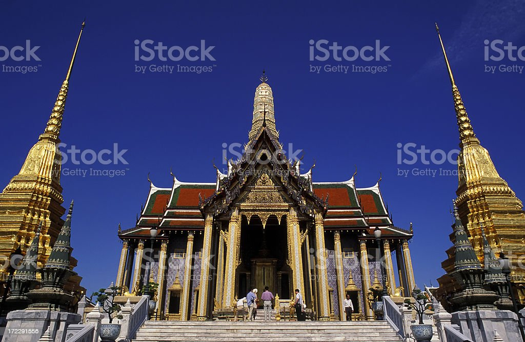Wat Phra Kaeo temple in Bangkok, Thailand royalty-free stock photo