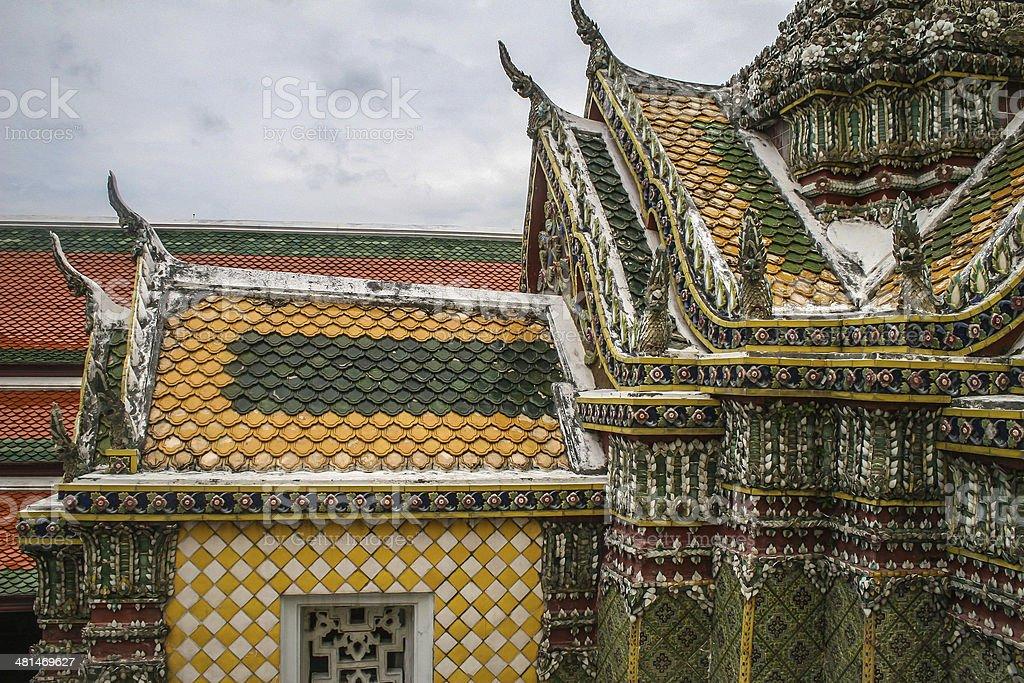 Wat Phra Kaeo,Bangkok , Royal Complex royalty-free stock photo