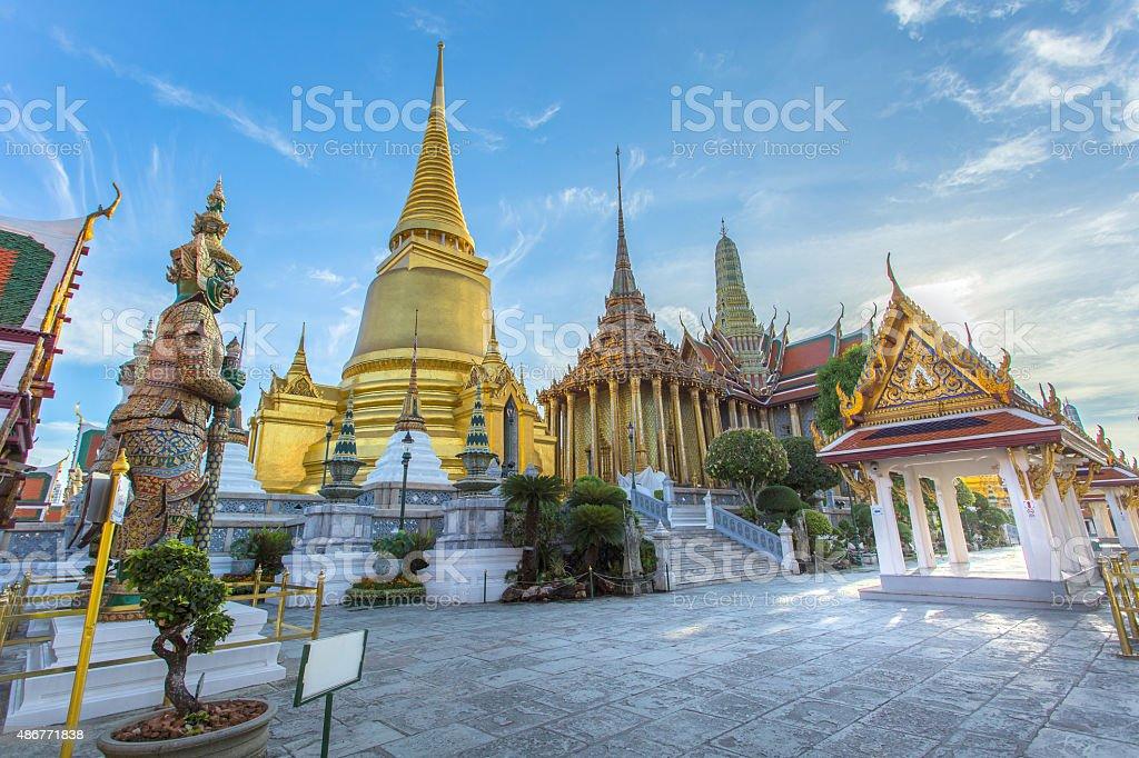 Wat Phra Kaew Ancient temple in bangkok stock photo