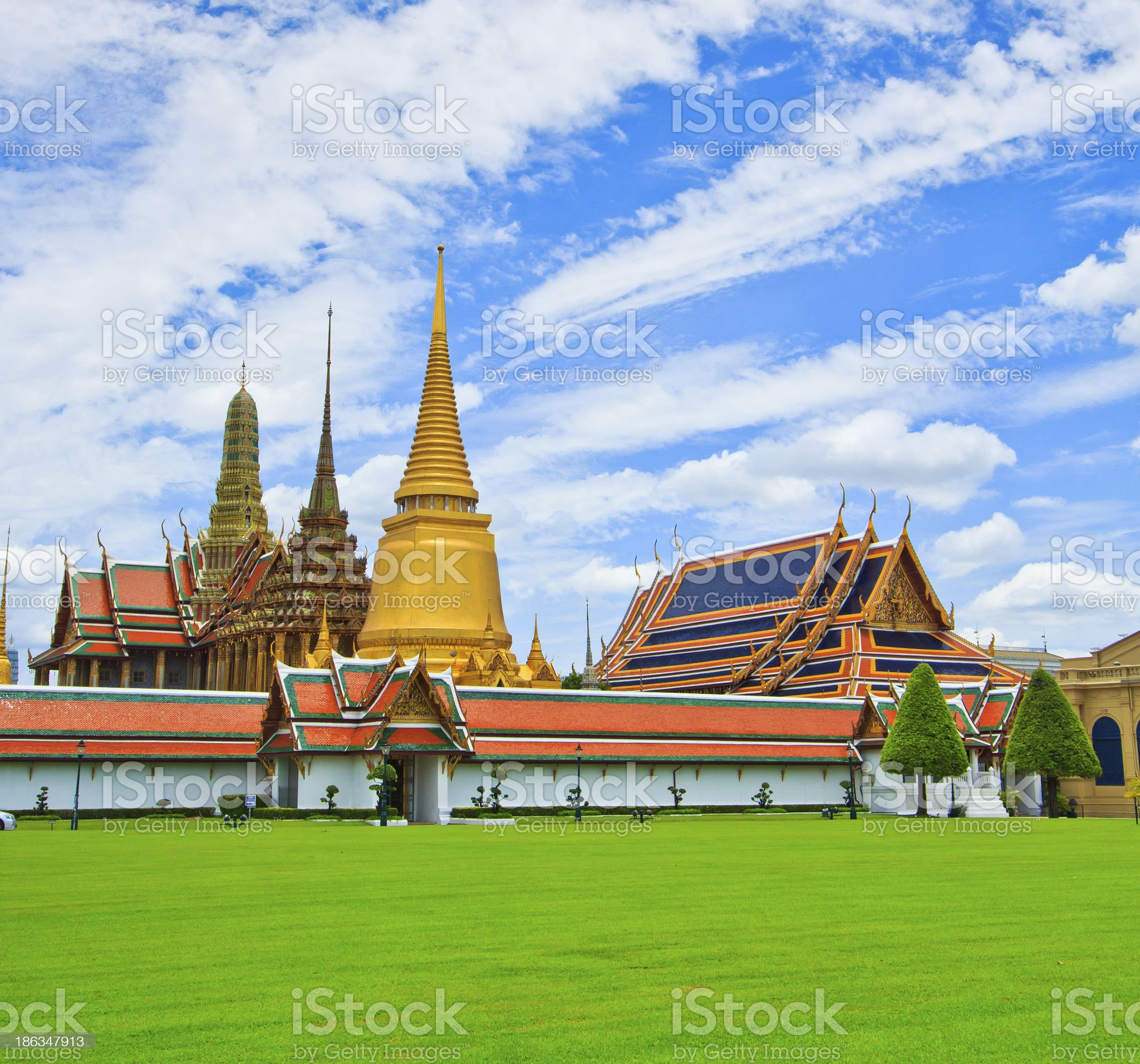 Wat Phra Kaew Ancient temple in bangkok Thailand royalty-free stock photo
