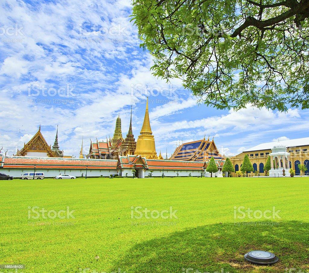 Wat Phra Kaew Ancient temple in bangkok Thailand royalty-free stock photo