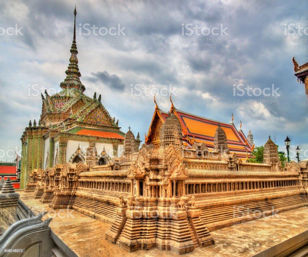 Wat Phra Kaew Ancient, temple of the Emerald Buddha in Bangkok, Thailand stock photo