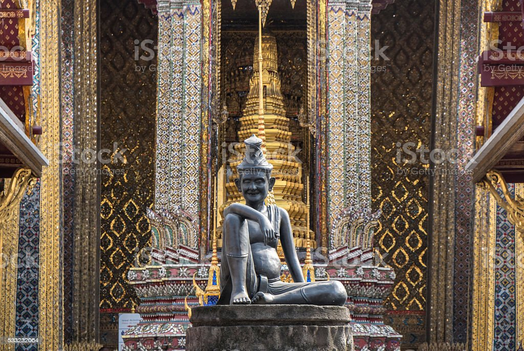 Wat Phra Kaew, Bangkok stock photo