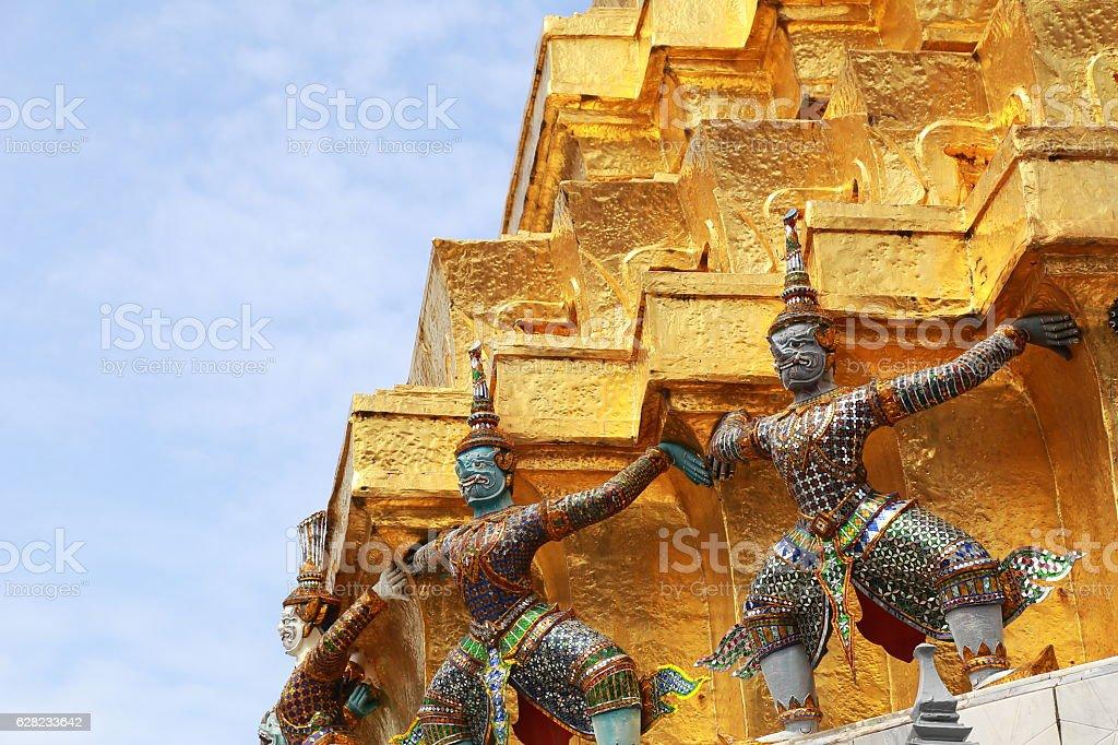 Wat Phra Kaew Bangkok Thailand stock photo