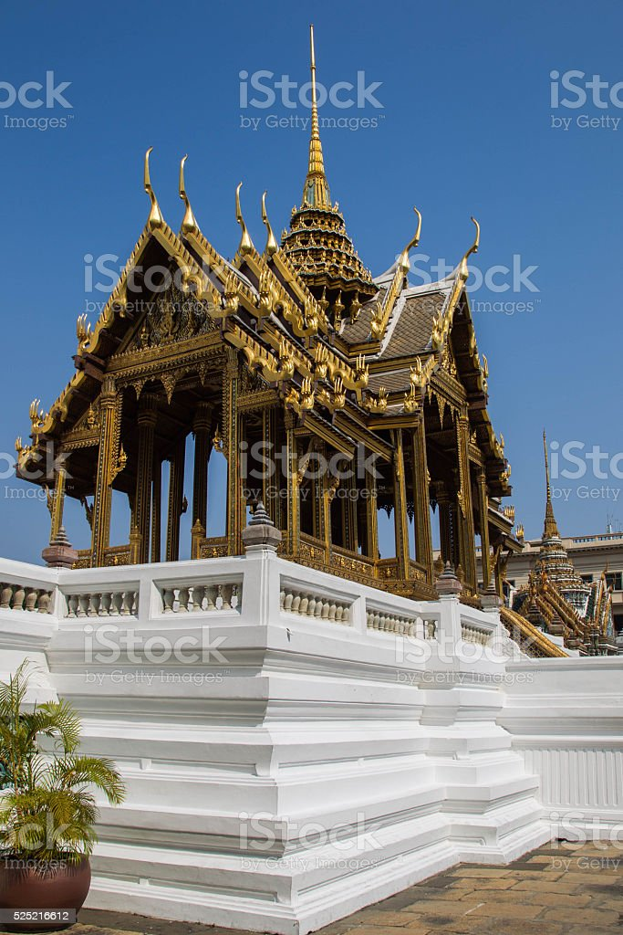 Wat Phra Kaew, Bangkok-Thailand stock photo