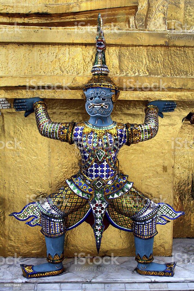 Wat Phra Kaew Grand Palace in Bangkok, Thailand royalty-free stock photo