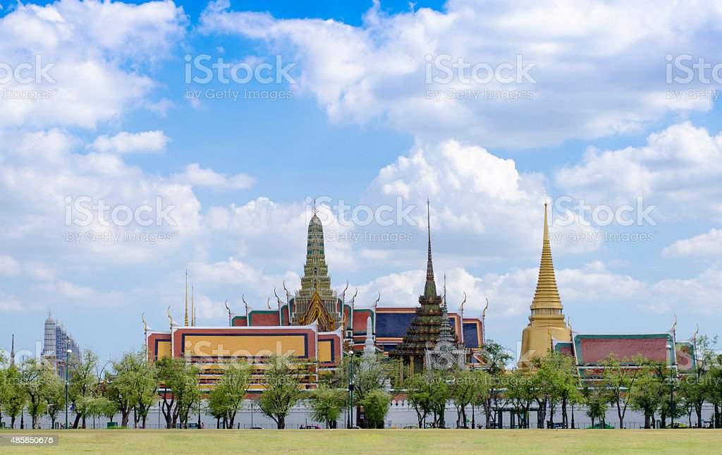 Wat Phra Kaew Grand Palace in Bangkok,Thailand stock photo