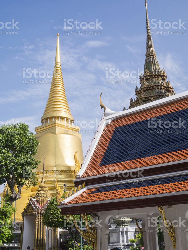 Wat Phra Kaew (the Grand Palace) of Thailand. royalty-free stock photo