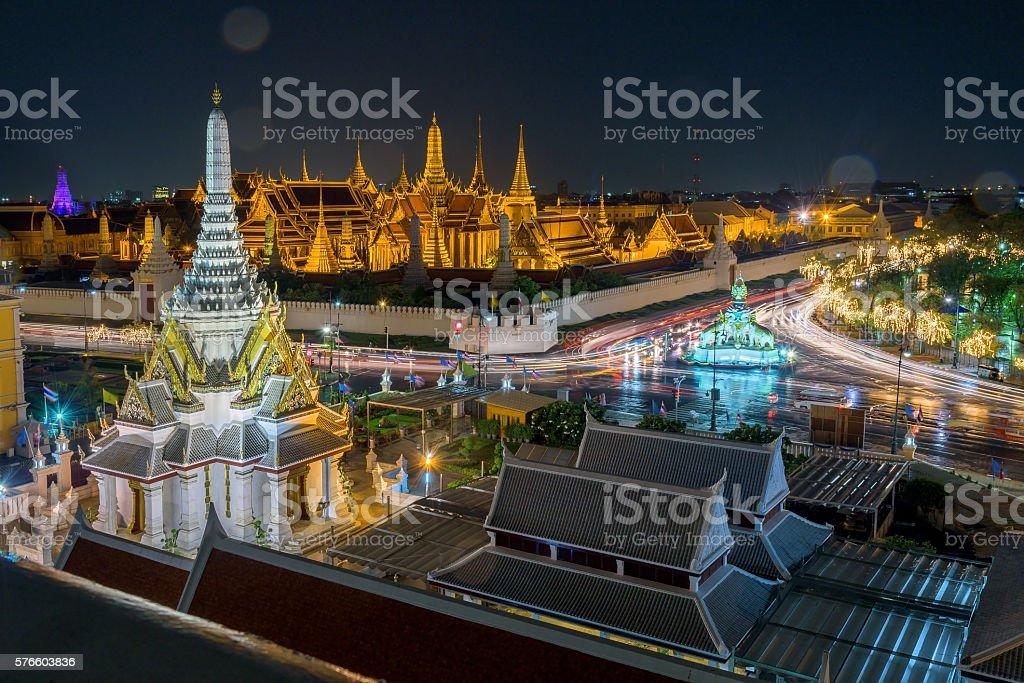 Wat Phra Kaew Royal Palace in Bangkok, Thailand stock photo