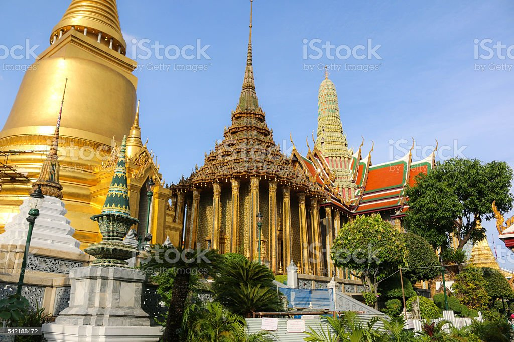 Wat Phra Kaew Temple, Bangkok, Thailand stock photo