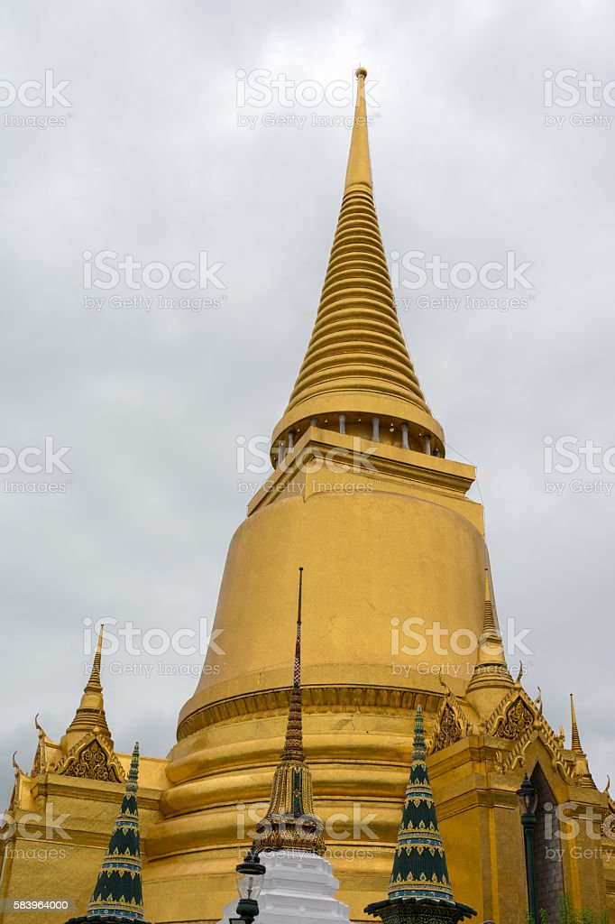 Wat Phra Kaew, temple of Emerald Buddha in Bangkok, Thailand stock photo