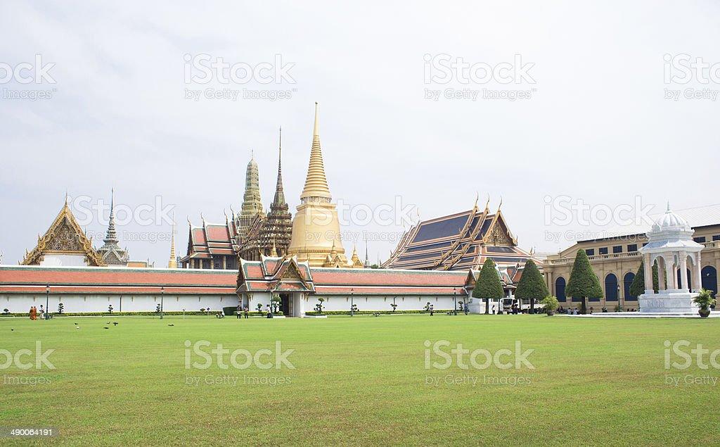 Ват Пхра Кео, Храм Изумрудный Будда, в Бангкоке, Таиланд. Стоковые фото Стоковая фотография