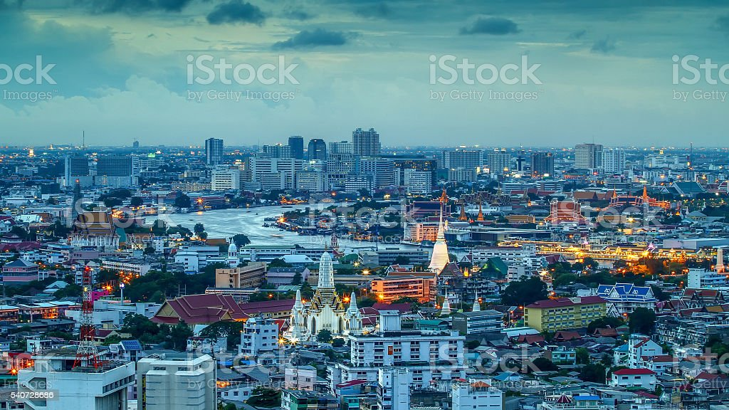 Wat Phra Kaew, Temple of the Emerald Buddha, Bangkok, Thailand stock photo